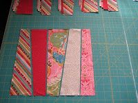 Strip Tease quilt top - Quick 'n Easy - Quilting Tutorials and Fabric Creations - Quilting In The Rain. would look good with every other strip a neutral