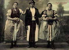 Egri népviselet, 1913 (Képeslap, Zempléni Múzeum, Szerencs) Long Time Ago, Hungary, Budapest, The Past, 1, Military, Culture, Roots, Faces