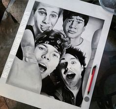 So many people in this fam are so talented and I'm just a potato lol 5sos Drawing, 5sos Fan Art, Stay Strong Beautiful, 5sos Imagines, 1d And 5sos, Second Of Summer, Luke Hemmings, Dan And Phil, Great Bands