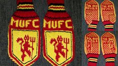 Ravelry: Manchester United votter pattern by Camilla Naurstad Cristiano Ronaldo Lionel Messi, Soccer Girl Problems, Manchester United Soccer, Knit Mittens, Liverpool, Ravelry, Knitting Patterns, Projects To Try, The Unit