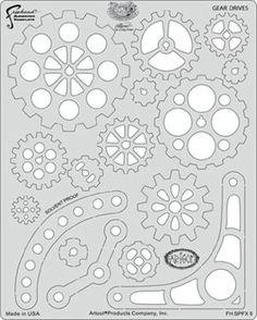 Amazon.com: Artool Freehand Airbrush Templates, Steam Punk Fx Template - Gear Drives: Toys & Games