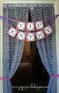 Rock Star Party VIP Entry Banner ~ www.paperjewelsdesigns.com