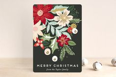 Holiday Florals by Alethea and Ruth at minted.com