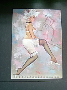 Fritz Willis Pin Up Calendar Page June, 1965