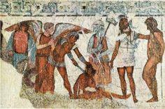 ** PINTURA MURAL ::: Pintura que representa a Charun, Tumba François de Vulci (h.350-325 a.C.). Villa Albani, Roma - En el periodo etrusco-itálico será cada vez más personal i propio alejandose de lo aprendido por los griegos. Representaciones en tumbas aparicion del DEMONIO ESTRUSCO DE LA MUERTE --> Charun, aparecera en pintura cerámica y pintura