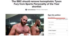 """People Are Petitioning The BBC To Remove Tyson Fury From Award Shortlist Over """"Homophobic"""" Comments - BuzzFeed News"""