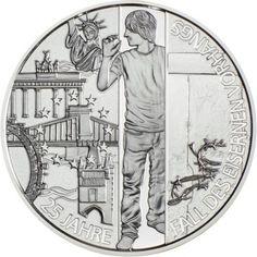 20 Euro Silber 25 Jahre Fall des Eisernen Vorhangs PP