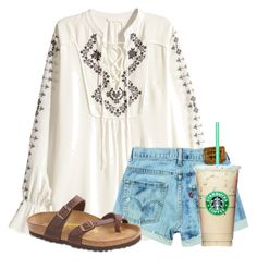 """Somewhat hippie"" by flroasburn ❤ liked on Polyvore featuring H&M and Birkenstock"