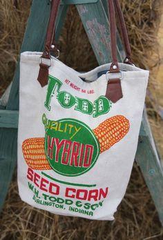 seed corn feedsack bag - Junk GYpSy co.