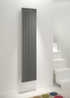 ❤️ that radiators have now become s feature like a piece of art - Kudox Xylo Vertical Radiator, Anthracite, Tall Radiators, Vertical Radiators, Kitchen Dining Living, Designer Radiator, Living Spaces, Living Room, Flat Ideas, Reception Rooms, Home Projects