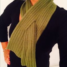Banana Republic green scarf Cashmere green scarf with loop hole for convenient wrapping. Banana Republic Accessories Scarves & Wraps