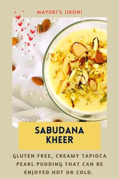 Sabudana Kheer is a creamy, delicious, gluten free and rich pudding enjoyed during fasting days or whenever you feel its kheer time.#pudding #indiandessert #dessert #glutenfree #ekadashirecipe Indian Desserts, Indian Sweets, Indian Food Recipes, Vegetarian Recipes, Ethnic Recipes, Best Dessert Recipes, Fun Desserts, Delicious Desserts, World Recipes
