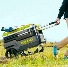 Igloo Coolers have introduced the ultimate all-terrain cooler, the Trailmate Cooler. A must have if you´re one of those who won´t give up the chance to get a cold one wherever you go. This high capacity cooler is rugged and designed to pull around ev Camping Gear, Outdoor Camping, Camping Hacks, Camping Outdoors, Campsite, Fishing Cart, Tumbler Designs, Cool Stuff, Men Stuff