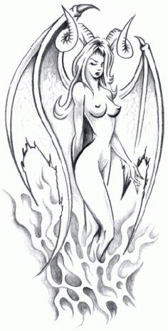 angel demon tattoo - Pesquisa Google