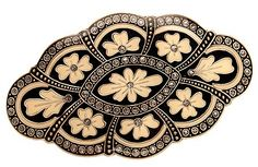 L. Erickson Scalloped Florid Oval Barrette - Slate Multi >>> Read more reviews of the product by visiting the link on the image.