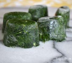 Dill Ice Cubes by Poofy Cheeks