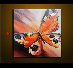 Abstract Oil Painting On Canvas Palette Knife Colorful butterfly Painting Modern Home Decor living Room Canvas Wall Art Picture