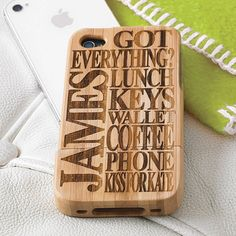 Personalised Wooden Cover For iPhone from notonthehighstreet.com