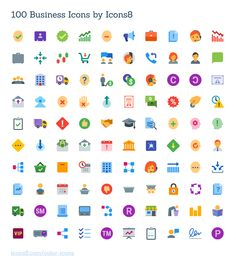 100 Free Vector Business Icons Exclusive Icons Business Colorful EPS Flat Free Graphic Design Icon PDF PNG Resource SVG Vector