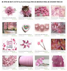 ★ OPEN ★ BEST of ETSY by EcoChicSoaps RND 225 ★BONUS RNDs ★ GIVEAWAY RND 230  Please join us at  http://www.etsy.com/treasury/MTI4MzMwMjh8MjcyMjc5NzI1Ng/open-best-of-etsy-by-ecochicsoaps-rnd