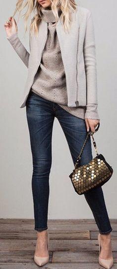 DIVINA EJECUTIVA: 20 Looks con Jeans & Tacones!