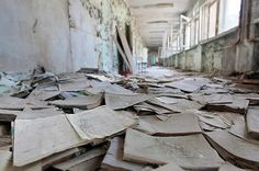 Inside Chernobyl, 25 Years LaterThe interior of a former school, as seen on April 20, 2011.