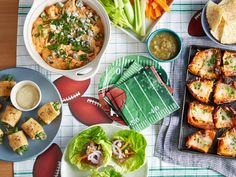 Heavy game-day fare (think Buffalo chicken dip and potato skins) gets a healthy makeover with lighter takes on classic recipes from Food Network.