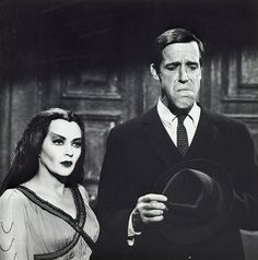 Lily Munster with Disfigured Herman Munster