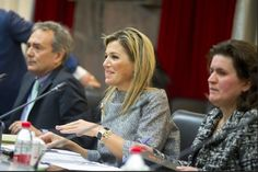 Queen Máxima met with the president of the Central Bank of China Zhou Xiaochuan, and then met with representatives of the banking sector.