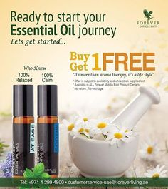 Ready to start your Essential Oil journey Lets get started... Buy 1 and Get  1 same Essential Oil FREE Only for AT EASE & SOOTHE * Offer is subject to availability and while stock supplies last. * Available in ALL Forever Middle East Product Centers. * No return...No exchage.  #AtEase #Soothe #EssentailOil #Limited #buyYours #FLPMiddleEastHQ #Foreverliving #MiddlEast #ForeverME #FGR17 #GRForeverDubai2017 #UAE