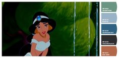 Paint colors from Chip It! by Sherwin-Williams. Inspired by Disney Aladdin.