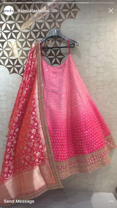 Kalki fashions Bridal Mehndi Dresses, Indian Bridal Lehenga, Indian Dresses, Indian Outfits, Indian Wedding Wear, Pink Lehenga, Lehenga Designs, Indian Designer Outfits, Indian Attire