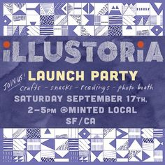 ILLUSTORIA(@illustoria_mag)• Instagram 相片與影片 September 17, Launch Party, Pattern Illustration, Magazine Art, Photo Booth, Product Launch, Lettering, Crafts, Instagram