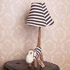 Cute Cartoon Animal Children Bedroom Table Lamp Kid's Bedsides Fabric Desk Light Baby Room Desk Lamps (monkey)