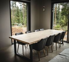 Owner is famous finnish artist called Jukka Poika. Dining Area, Kitchen Dining, Dining Room, Dining Table, Diy Table, Cool Kitchens, Sweet Home, New Homes, Modern