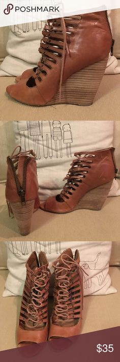 Steven by Steve Madden Lace Up Wedges Trendy lace up wedges from Steve madden's collection: Steven. They've been worn a few times and need to go to a home where they can be worn more! Steven by Steve Madden Shoes Wedges