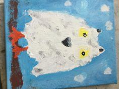 Mijn dierenportret. Tip: van tevoren beter nadenken over hoe ik het ga doen Top: de ogen komen mooi uit.