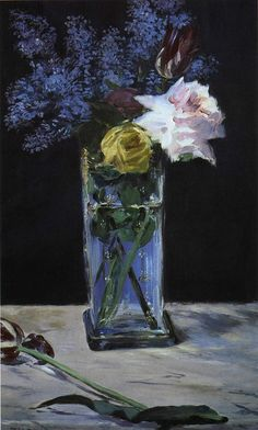 Manet No one makes water in a vase so beautiful.