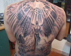 Shiva Tattoo, Back Tattoos For Guys, Angel Drawing, Japanese Dragon Tattoos, Angel Tattoo Designs, Demon Art, Samurai Tattoo, Tattoo Project, Back Pieces