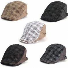 b52420e1e1dc9 Mens Herringbone Flat Hat Peaked Racing Country Golf Newsboy Beret Cap at  Banggood  Golffashion
