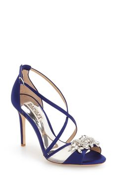 Badgley Mischka 'Gala' Crystal Embellished Evening Sandal (Women) available at #Nordstrom