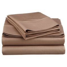 Symple Stuff Cotton Blend 600 Thread Count Solid Sheet Set Size: Full, Color: Taupe