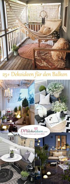 DIY decorating ideas for your home - decorate the balcony ., balkon design DIY decorating ideas for your home - decorate the balcony .