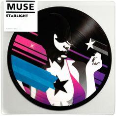 """2006 Muse - Starlight (7"""") [Warner Bros. 510116551-7] illustration by Jasper Goodall #albumcover"""