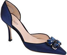 Anne Klein Ccianna Navy Satin Pump Shoes at Footnotesonline com ...