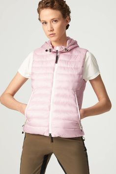 Bogner Fire + Ice Kate Quilted waistcoat in Pink for Women | BOGNER
