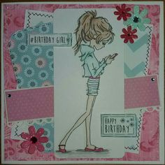 Lili of the valley. Birthday Cards, Happy Birthday, Paper Crafts, Card Crafts, Digital Stamps, Boy Or Girl, Lily, Create, Handmade Cards