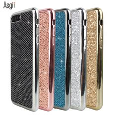 Luxury Glitter Sequins Plating Case For iPhone 5 5S SE 6 6S PLUS 7 7 PLUS sparkle Girl Woman plating Soft Back Phone Cover Capa   iPhone Covers Online