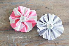 ruffle fabric flowers