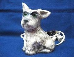 Vintage Scotty Dog Perfume lamp made by Goebel....Germany.
